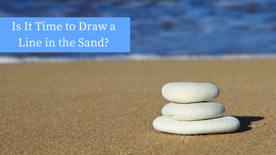 Is It Time to Draw a Line in the Sand?